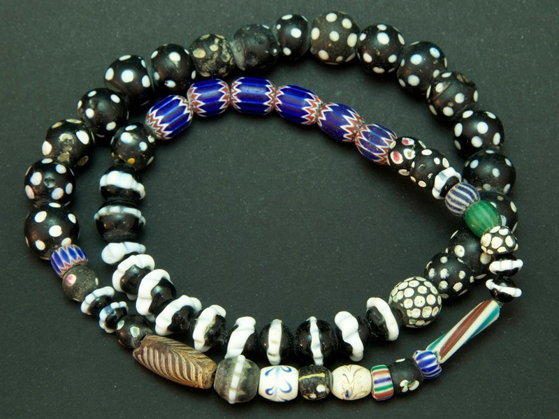 Strand of African trade glass beads