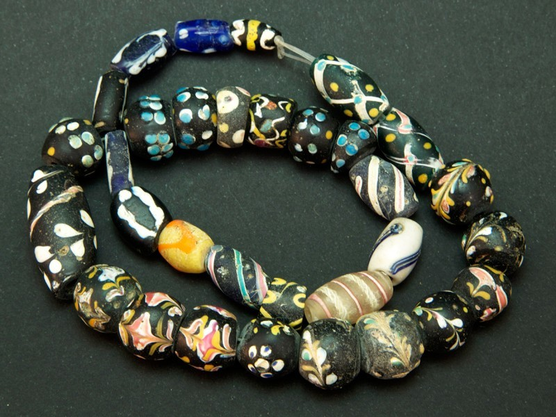 Strand of African trade glass beads ant.