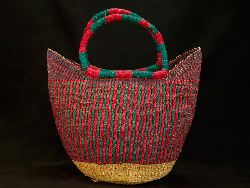 Senegal. Bolso cesta fibra.