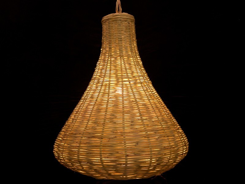 Lámpara pera de caña G.
