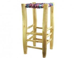 Wood rags high stool