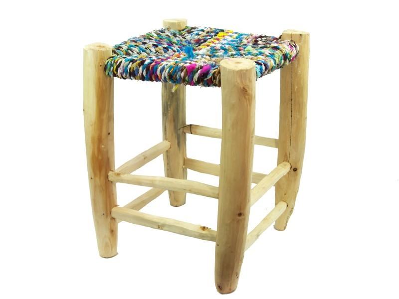 Wood rags stool (medium)
