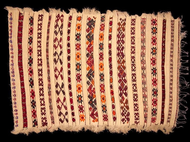 Zemmour. Estera de fibra de palma y lana vintage.