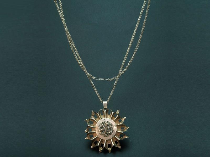 Fulani silver pendant