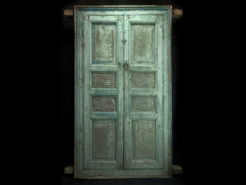 Moroccan antique wooden window shutters