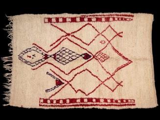 Azilal. Berber loop-knotted wool vintage rug